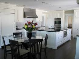 Kitchen With Dark Floors Awesome Two Tone Color Of White Kitchen Cabinets With Dark Floors