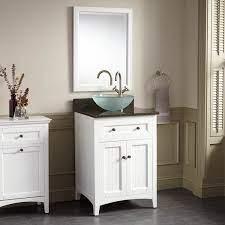24 Halifax Vessel Sink Vanity White Bathroom