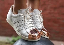 adidas shoes superstar rose gold. adidas superstar 80s rose gold metal toe cap shoes