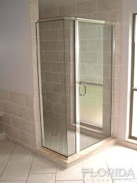 ¼ semi frameless inline with return panel glaze and a 6 pull handle