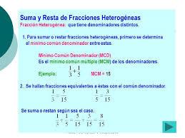 suma y resta de fracciones 23 preparado