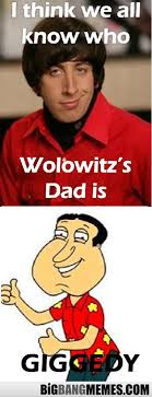 Howard Quagmire.... Giggedy - The Big Bang Theory Memes via Relatably.com