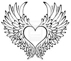 1024x887 drawn heart winged heart