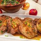 apple and onion smothered pork chops with garam masala