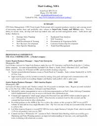 Leadership Section Resume Examples Senior Executive Samples Free
