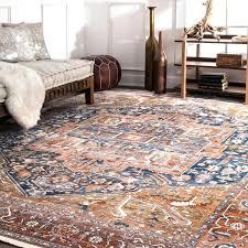 10 x 7 area rugs traditional fancy medallion border rust area rug x 7 7 x