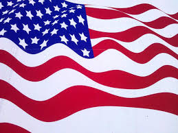 Natural American Flag Backgrounds For Powerpoint Templates