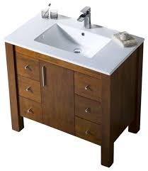 bathroom place vanity contemporary: parsons porcelain top vanity espresso quot contemporary bathroom vanities