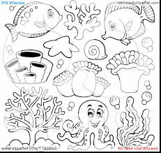 extraordinary cartoon sea animals coloring pages with underwater ...