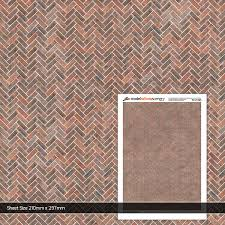 Herringbone Brick Pattern Classy Tudor Herringbone Pattern Brick Paper OO48mm4848 Scale
