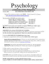 Gallery Of Psychology Student Resume Objective Examples Sample