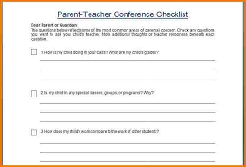 parent conference template parent teacher conference template authorization letter pdf
