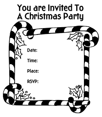 Small Picture Coloring Pages of Printable Christmas Party Candy Canes Invitation
