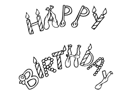 Small Picture Free Printable Happy Birthday Coloring Page Birthday Coloring