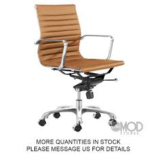 eames ribbed chair tan office. Eames Office Chair Tan Terracotta Aluminum Group Management Eames\u2026 Ribbed U