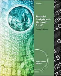Financial Analysis Of Microsoft Buy Financial Analysis With Microsoft R Excel R International