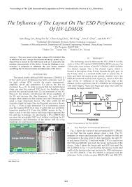 Basic Esd And Io Design Pdf Pdf The Influence Of The Layout On The Esd Performance Of