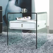 modern glass nightstands  home
