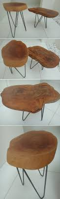 Classic Mid Century Modern French Styled Hairpin Side Tables Set ...