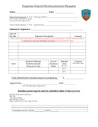 Expense Reimbursement Template Easy To Use Travel Expense Report And Reimbursement Request Form 21