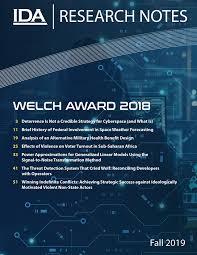 IDA Research Notes - Welch Award 2018