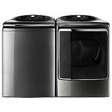 black washer and dryer. Top-Load Washer W/ Quad Action Impeller Black And Dryer S