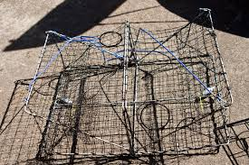 it features a steel frame with nylon webbing my favorite feature of this promar trap is that it is center hinging this is very easy