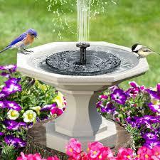 bird bath solar pond fountain pump