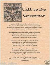 call to the greenman page for book of shadows parchment wicca bos pages