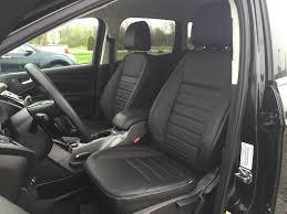 katzkin black leather replacement interior seat covers fits 2016 2016 ford escape se
