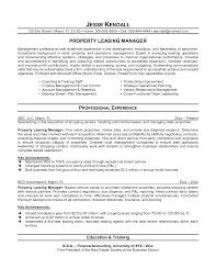 Leasing Consultant Duties Resume Leasing Manager Resume Sample