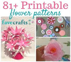Paper Flower Pattern Adorable 48 Printable Flower Patterns FaveCrafts