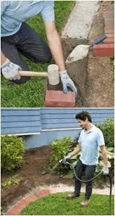 brick garden edging. diy brick edging garden n
