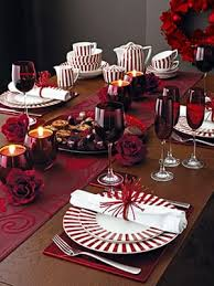 red christmas table decorations. Christmas Tables: Ruby Table Red Decorations R