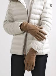 Кожаные <b>перчатки</b> с вышивкой - Чижик