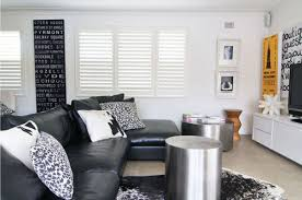 Living Rooms With Black Leather Furniture