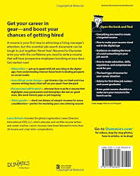 Resumes For Dummies Laura DeCarlo 40 Amazon Books Extraordinary Resume For Dummies