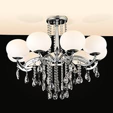 y l modern contemporary gorgeous style 9 lights glass shade chandelier with crystal decoration candle style flush mount ceiling pendant for living room bed