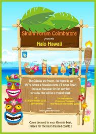 Hawaiian Theme Party Invite Untumble Com