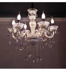 Silber Kristall Kronleuchter Kristall Barock Mit Kristall Behang Weiß 6 Lichter Roma