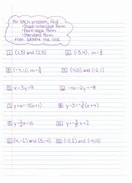 writing linear equations in slope intercept form worksheet pdf unique slope intercept form worksheet answer key
