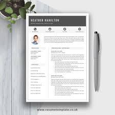 2019 Resume Template Cv Template Cv Sample Resume Design Fully Editable Ms Word Resume Cover Letter And References For Digital Instant Download