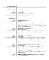 Junior Java Developer Resume Interesting 28 Sample Java Developer Resumes Sample Templates