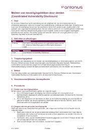 Melden van beveiligingslekken door derden (Coordinated Vulnerability  Disclosure)