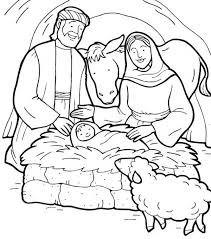 Small Picture Jesus is Born Bible Christmas Story Colouring Page Happy Colouring