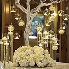 80MM Hanging Tealight Holder Glass Globes Terrarium Wedding Candle Holder  Candlestick (18 Pcs/set