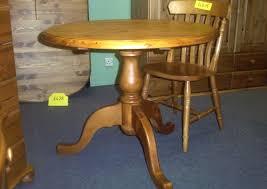 round pine pedestal tables made in britain