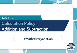Image result for addition and subtraction calculation policy
