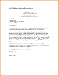 7 Paralegal Cover Letter Sample Address Example