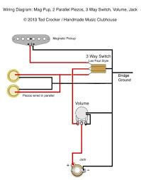 84 best guitar wiring diagrams images on pinterest guitar 2 Humbucker 1 Single Coil Guitar Pickup Wiring Diagram ted crocker wiring diagram 1 single coil, 2 piezo, 1 vol, 3 guitar pickupsguitar One Pot to Humbucker Wiring Diagrams